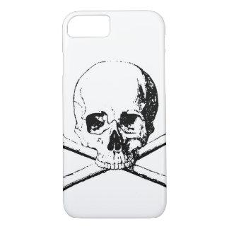 Black & White Skull & the Bones iPhone 7 Case