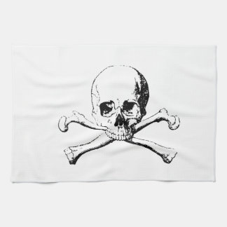 Black & White Skull & the Bones Kitchen Towels