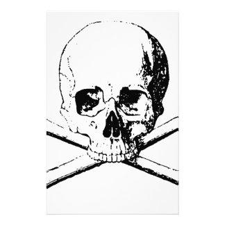 Black & White Skull & the Bones Stationery Design