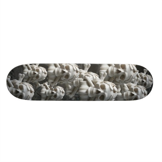 Black White Skulls & Bones Skeleton Skateboard