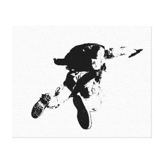Black & White Skydiving Canvas Print