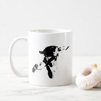 Black & White Skydiving Coffee Mug