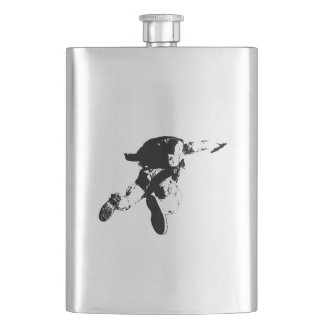 Black & White Skydiving Hip Flask