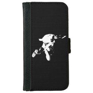 Black & White Skydiving iPhone 6 Wallet Case