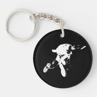 Black & White Skydiving Keychain