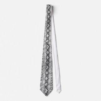 Black & White Snake Skin Tie