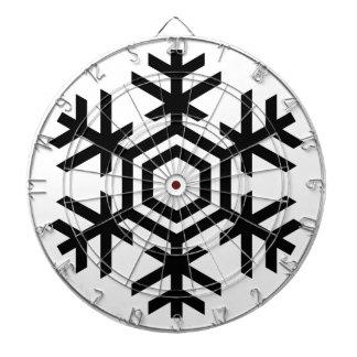 Black & White Snowflake Dart Board