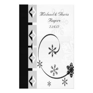 Black & White Snowflake Wonderland Personalized Stationery