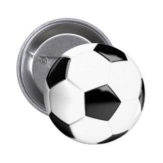 Black & White Soccer Ball 2 Inch Round Button