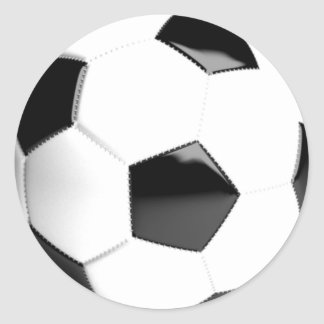 Black & White Soccer Ball Round Sticker