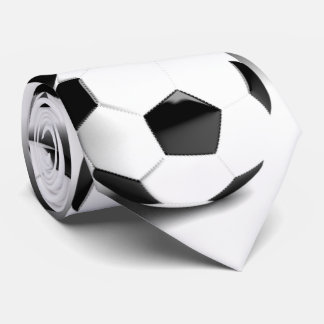 Black White Soccer Ball Tie