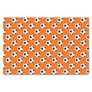 Black/White Soccer Football Balls on Orange Tissue Paper