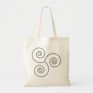 Black/White Spiral of Life Tote Bag