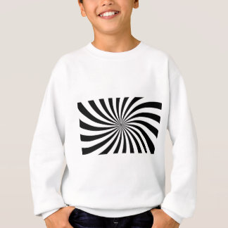 Black & White Spiral Sweatshirt