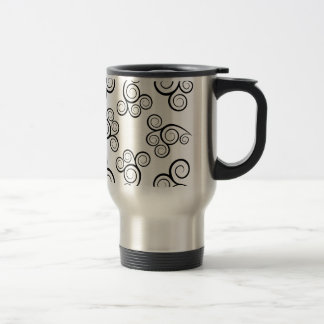 Black & White Spiral Travel Mug