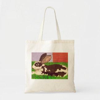 Black & White Spot Bunny Tote Bag