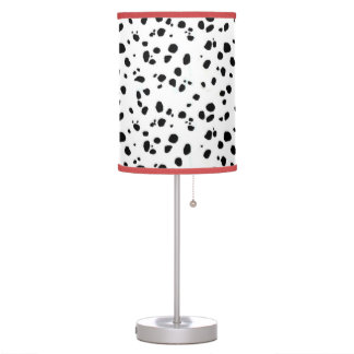 Black & White Spotted Dalmatian Animal Pattern Desk Lamps