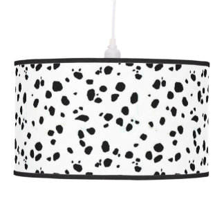 Black & White Spotted Dalmatian Animal Pattern Pendant Lamp