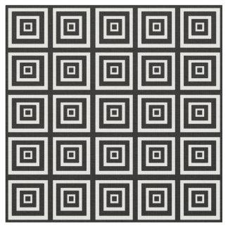 Black & White Squared Fabric