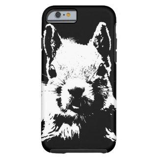 Black & White Squirrel Tough iPhone 6 Case