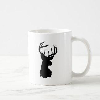 Black & White Stag Head Coffee Mug