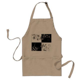 Black & white standard apron