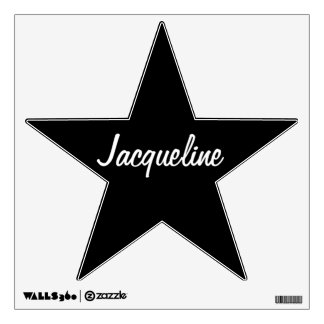 Black/White Star Personalized Wall Decal