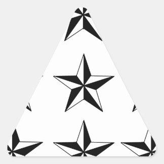 Black & White Stars Triangle Sticker