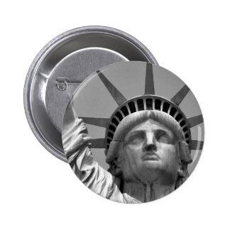 Black & White Statue of Liberty New York 2 Inch Round Button