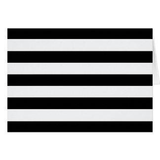 """""""black & white stripe."""" 7x5 card"""