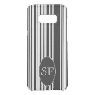 Black White Stripe Barcode Monogram Uncommon Samsung Galaxy S8 Plus Case