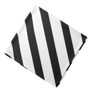 Black & White Stripe Formal Lapel Pocket Square Bandana