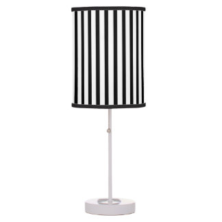 Black White Stripe pattern table lamp