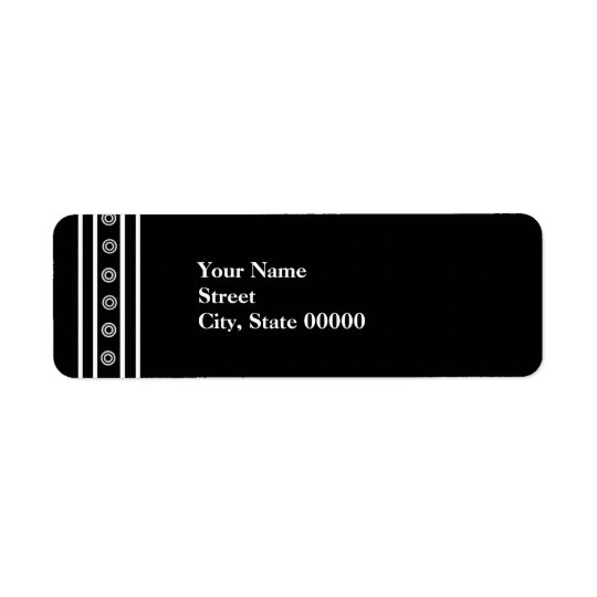 Black & White Striped Address label
