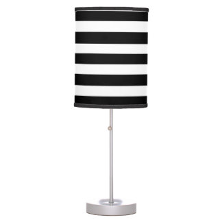 Black & White Striped Lamp