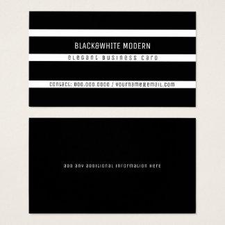 black&white striped modern elegant business card