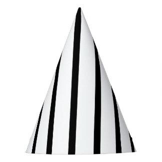 Black & White Striped Party Hat