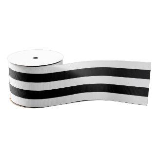 Black & White Stripes Grosgrain Ribbon