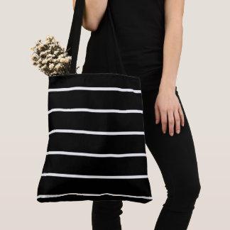 Black-White-Stripes-Totes-Shoulder-Bags-Multi Tote Bag