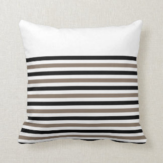 Black White Stripes with CUSTOMIZABLE ACCENT Throw Pillow