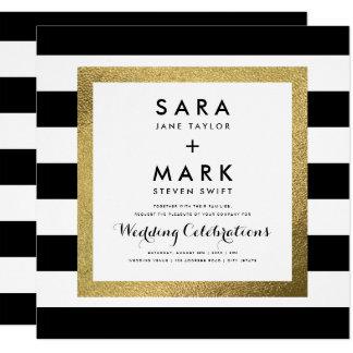 black and gold wedding invitations  announcements  zazzle canada, Wedding invitations