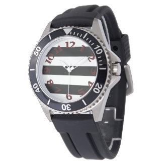 Black White Stripes Wristwatch