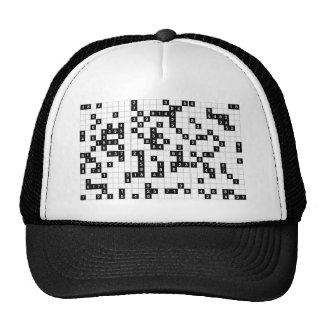 black white sudoku trucker hat