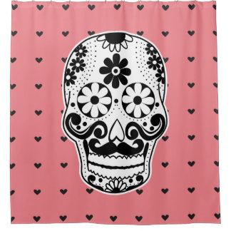Black & White Sugar Skull Micro Heart