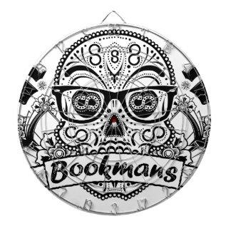 Black & White Sugar Skull W/ Glasses Dartboard With Darts