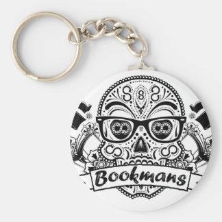 Black & White Sugar Skull W/ Glasses Keychain