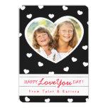 "Black & White Sweet Hearts Valentine Photo Card 5"" X 7"" Invitation Card"