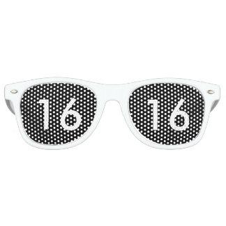 Black & White Sweet Sixteen Glasses