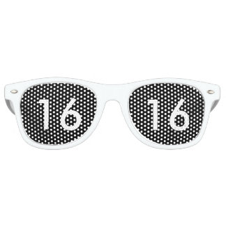Black & White Sweet Sixteen Glasses Party Shades