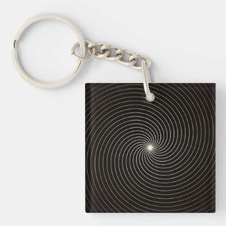 Black & White Swirl w/Tan Gradation Keychain